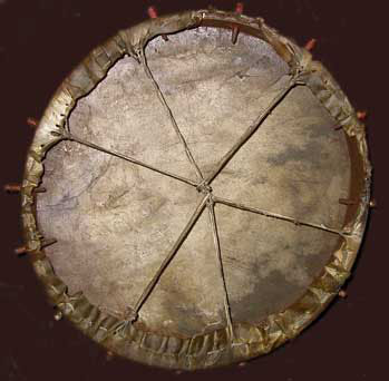 back of sioux drum