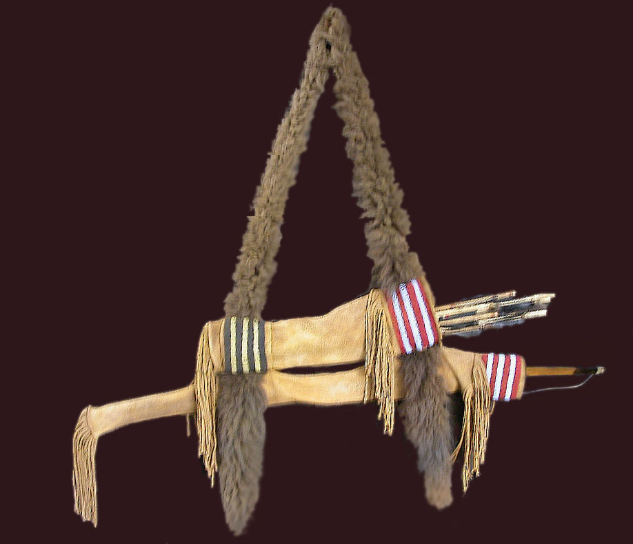 Nez Perce bow case and quiver