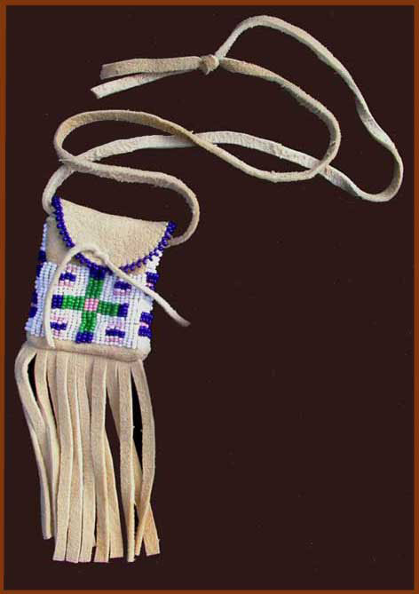 plains indian neck bag