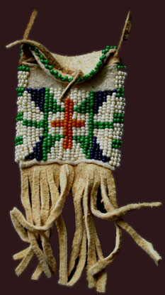beaded neck pouch
