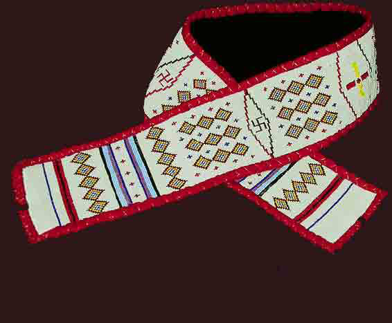 Native American ceremonial beaded belts