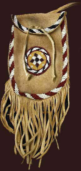 Native american belt pouches plains indian for Cheyenne tribe arts and crafts