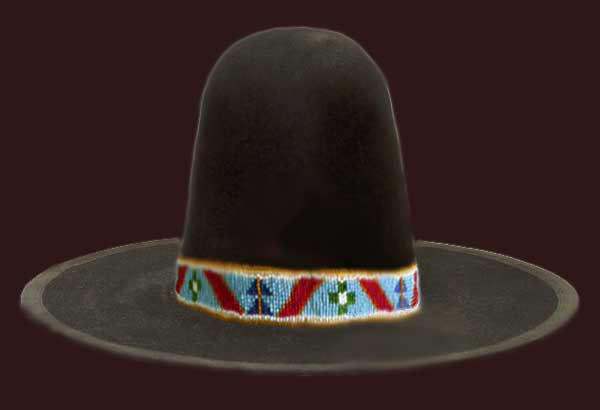 Nez Perce beaded hat band