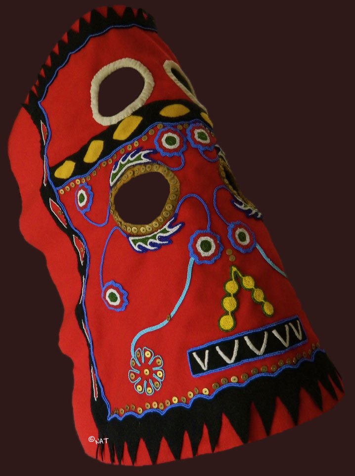 Beaded Horse Mask of the Plains Indian
