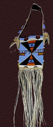 plains indian mirror bag